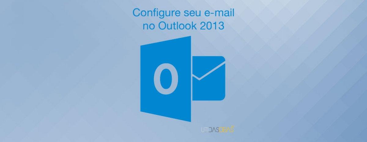 configurar e-mail outlook 2013