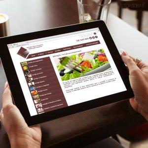 criação de site nutricionista - mockup iPad - Cristina Trovó
