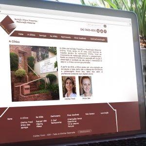 criação de site nutricionista - página da clínica - Cristina Trovó