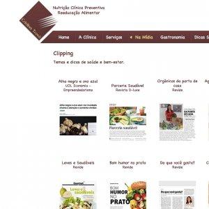 criação de site nutricionista - página clipping - Cristina Trovó