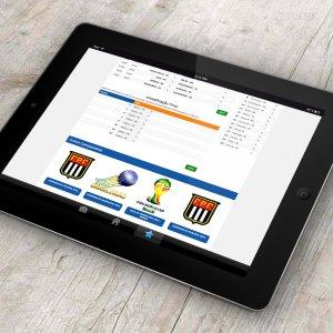 criação de site institucional - mockup iPad - Gurus da Bola