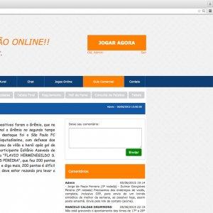 criação de site institucional - página Mural - Gurus da Bola