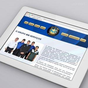 criação de site - empresa de terceirização de serviços - mockup iPad - Grupo MM