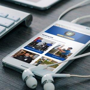 criação de site - empresa de terceirização de serviços - mockup celular 2 - Grupo MM