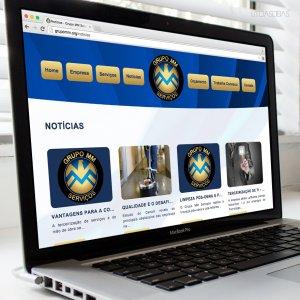 criação de site - empresa de terceirização de serviços - mockup Macbook - Grupo MM