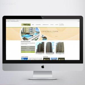 criação de site institucional - Construtora Puntuali