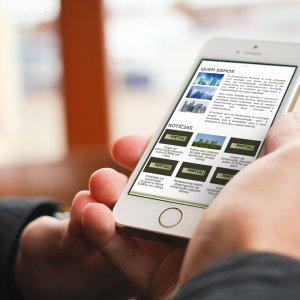 criação de site institucional - mockup celular - Construtora Puntuali