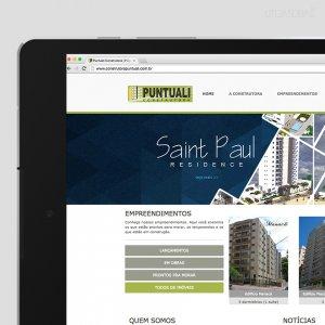 criação de site institucional - página inicial - Construtora Puntuali