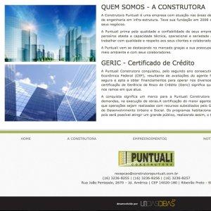 criação de site institucional - página quem somos - Construtora Puntuali