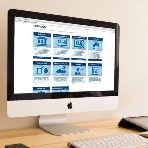 criação de site institucional - mockup iMac - Qualliagua