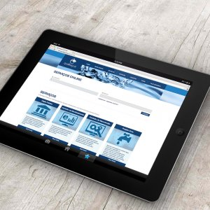 criação de site institucional - mockup iPad - Qualliagua