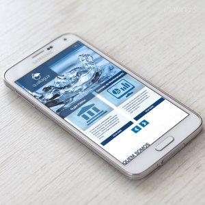 criação de site institucional - mockup celular - Qualliagua