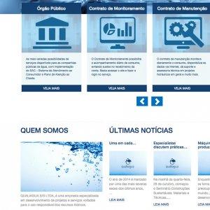 criação de site institucional - página inicial - Qualliagua