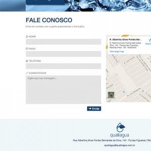 criação de site institucional - página de contato - Qualliagua