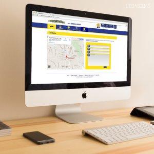 criação de site para imobiliária - mockup iMac - Renascer Imóveis