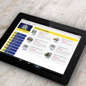 criação de site para imobiliária - mockup iPad - Renascer Imóveis