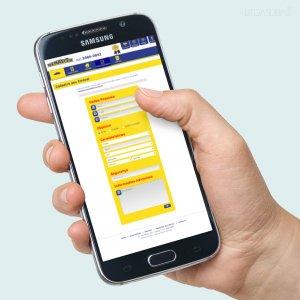criação de site para imobiliária - mockup celular - Renascer Imóveis