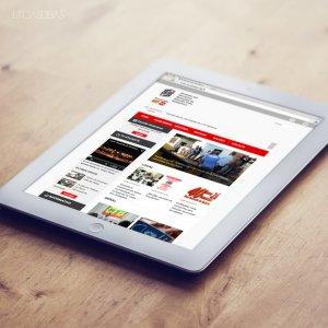 criação de site para sindicato - mockup iPad - Servidores Municipais de Ribeirão Preto