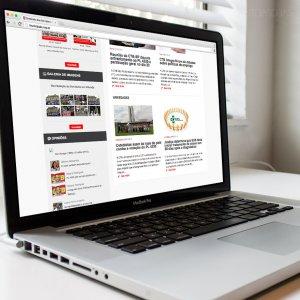 criação de site para sindicato - mockup Macbook - Servidores Municipais de Ribeirão Preto