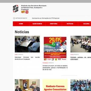 criação de site para sindicato - página de notícias - Servidores Municipais de Ribeirão Preto
