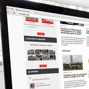criação de site para sindicato - página inicial - Servidores Municipais de Ribeirão Preto
