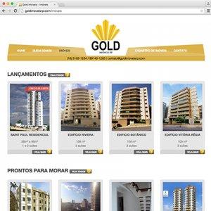 criação de site institucional para imobiliária - Gold Imóveis
