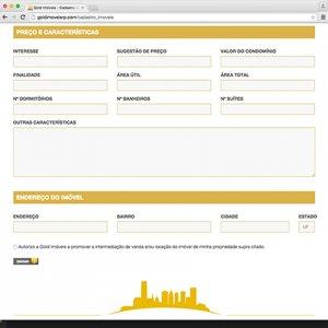 criação de site institucional para imobiliária - página de contato - Gold Imóveis