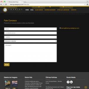 criação de site institucional - página de contato - Sharing Asset Group
