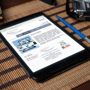 criação de site para empresa de automação - mockup iPad - Soundless Áudio