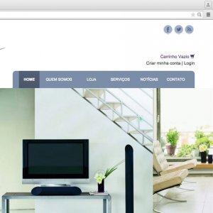 criação de site para empresa de automação - página inicial - Soundless Áudio