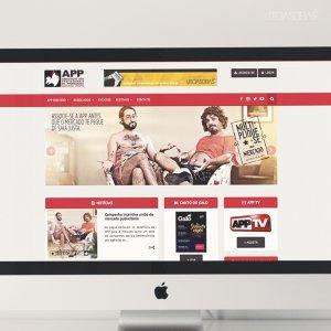 criação de site institucional APP - mockup imac