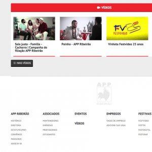 criação de site institucional APP - página inicial