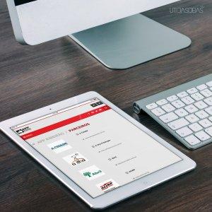 criação de site institucional APP - mockup ipad