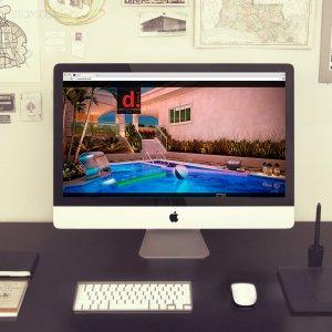 criação de site para escritório de arquitetura - mockup iMac - Dcomd