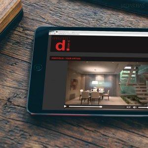 criação de site para escritório de arquitetura - mockup iPad - Dcomd