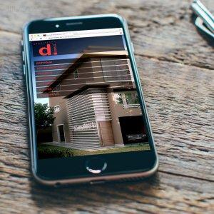 criação de site para escritório de arquitetura - Dcomd