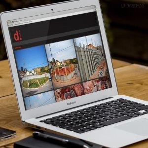 criação de site para escritório de arquitetura - mockup computador - Dcomd