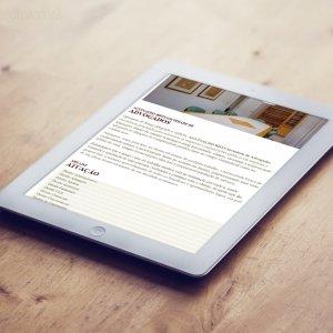 criação de site para escritório de advocacia - mockup iPad - Biffi Advogados