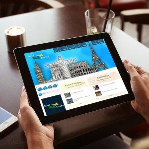 criação de site institucional Brasil-Europa - mockup iPad
