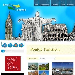 criação de site institucional Brasil Europa - página inicial