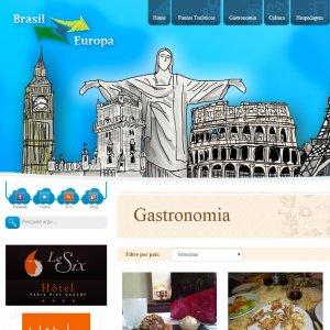 criação de site institucional Brasil-Europa - página gastronomia