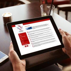 criação de site institucional - mockup iPad - USP Ribeirão - Departamento de Cirurgia Vascular