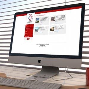 criação de site institucional - mockup iMac - USP Ribeirão - Departamento de Cirurgia Vascular