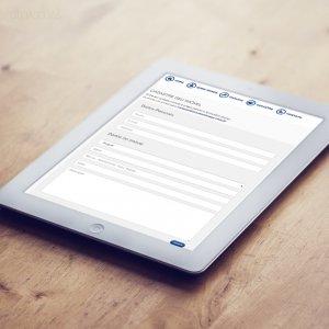 criação de site institucional para imobiliária - mockup iPad - Donegá Imóveis