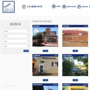 criação de site institucional para imobiliária - página de imóveis - Donegá Imóveis