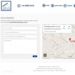 criação de site institucional para imobiliária - página de contato - Donegá Imóveis