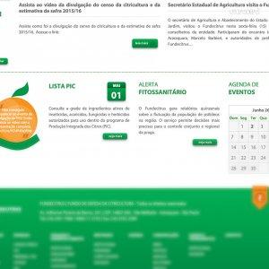 criação de site - página inicial - Fundecitrus