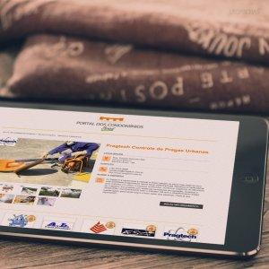 criação de site - mockup iPad - Portal dos Condomínios