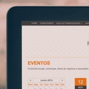 criação de site - página eventos - Portal dos Condomínios