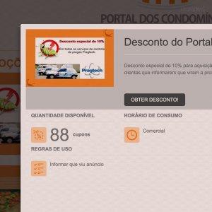 criação de site - página promoções - Portal dos Condomínios